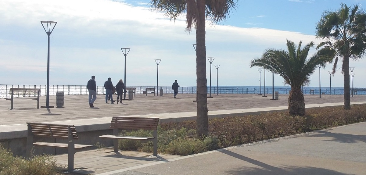 Winter day with low temperature at Limassol. Taken at Limassol on January 2016