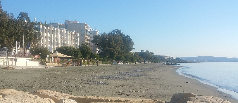Walking at the beach in Limassol on a fine January day