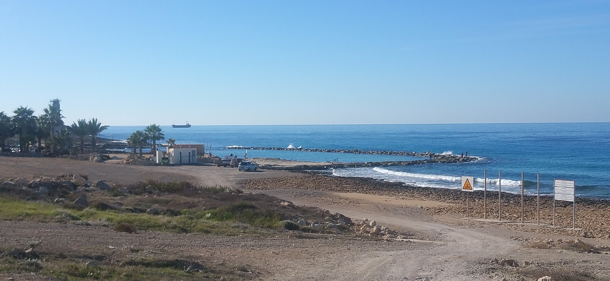 Paphos sea temperature in January. Photo from St George hotel