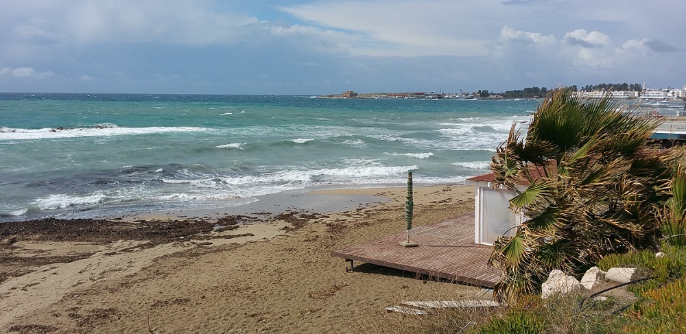 Going to the beach in Paphos during February