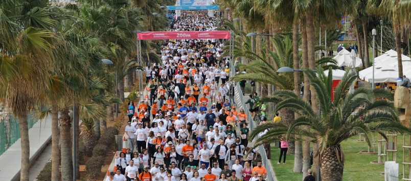 Limassol weather in April is great for the annual Limassol marathon