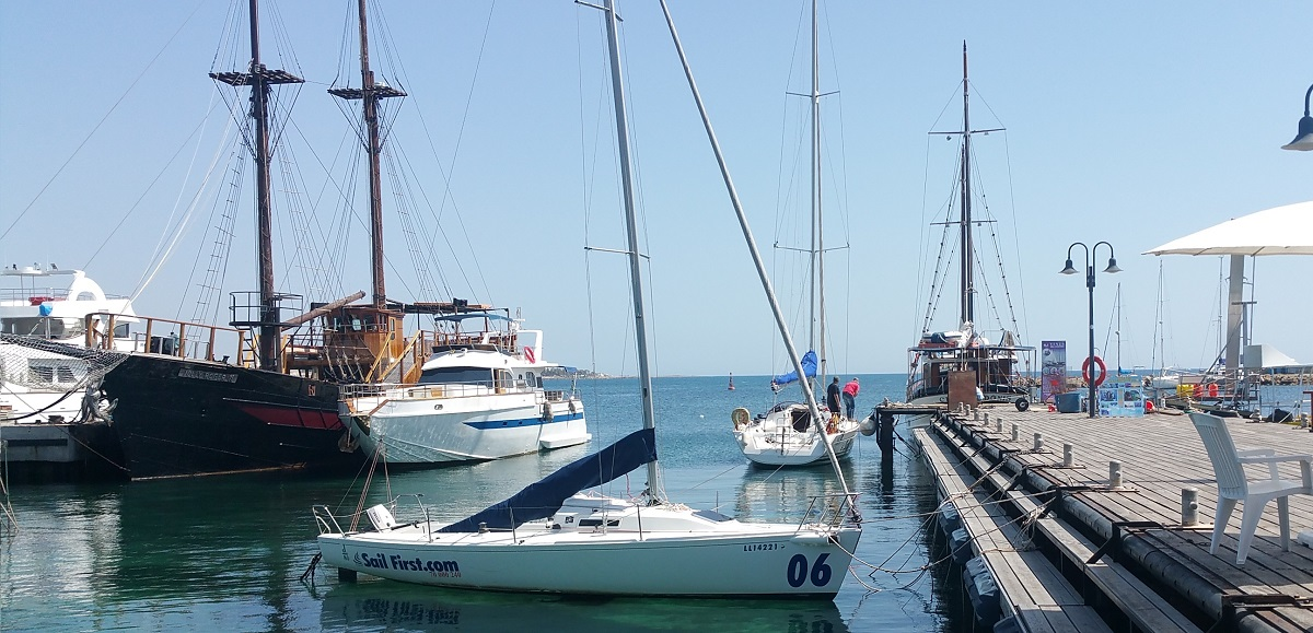 Paphos weather in April is perfect for a boat trip
