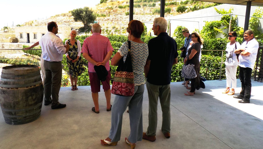 Great June weather for vine-tasting and visiting a winery