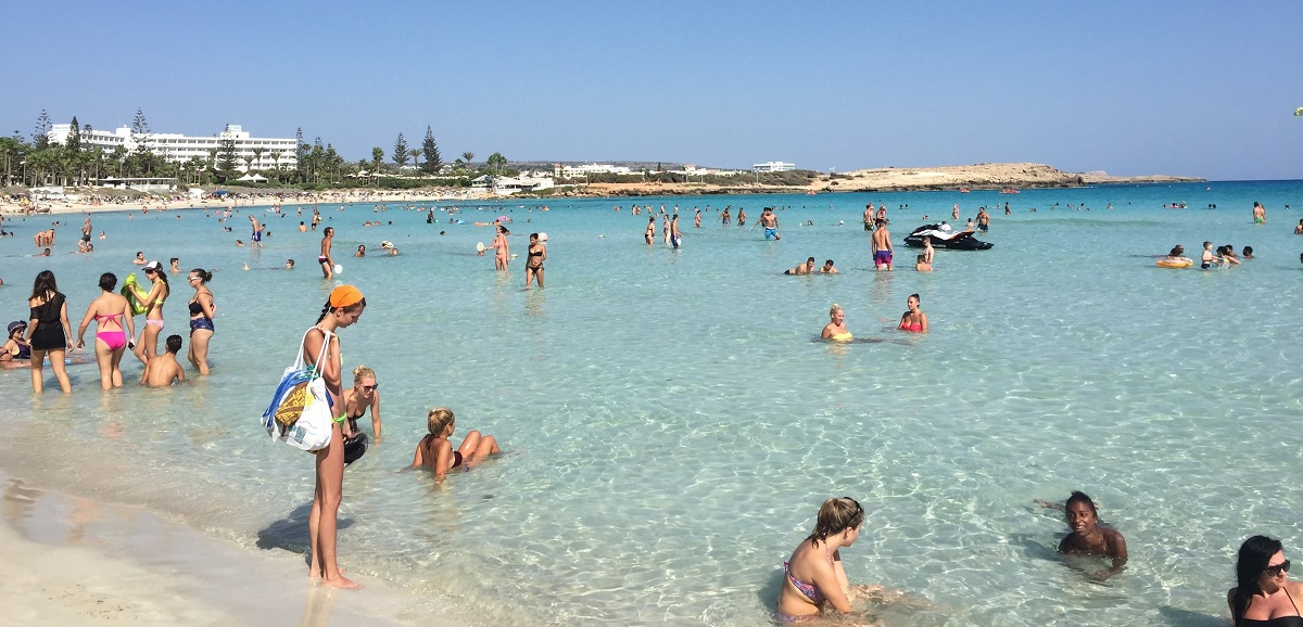 Nissi Beach at Ayia Napa with great August weather