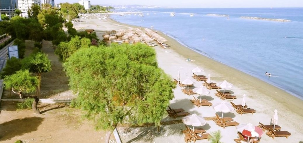 At the beach in Limassol - August