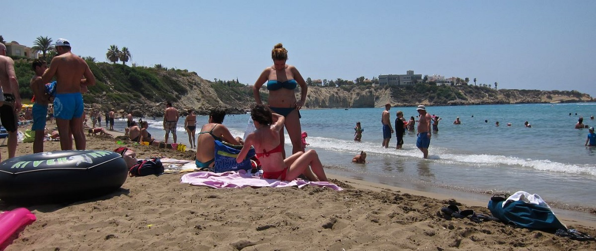 Coral Bay Beach - Paphos weather in August