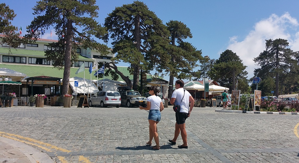 Nicosia Troodos in September. Sunny weather