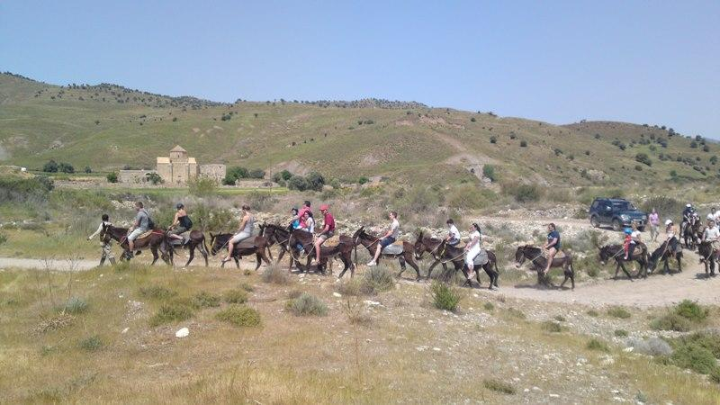 Nice weather at Paphos in September. Donkey ride at Paphos villages