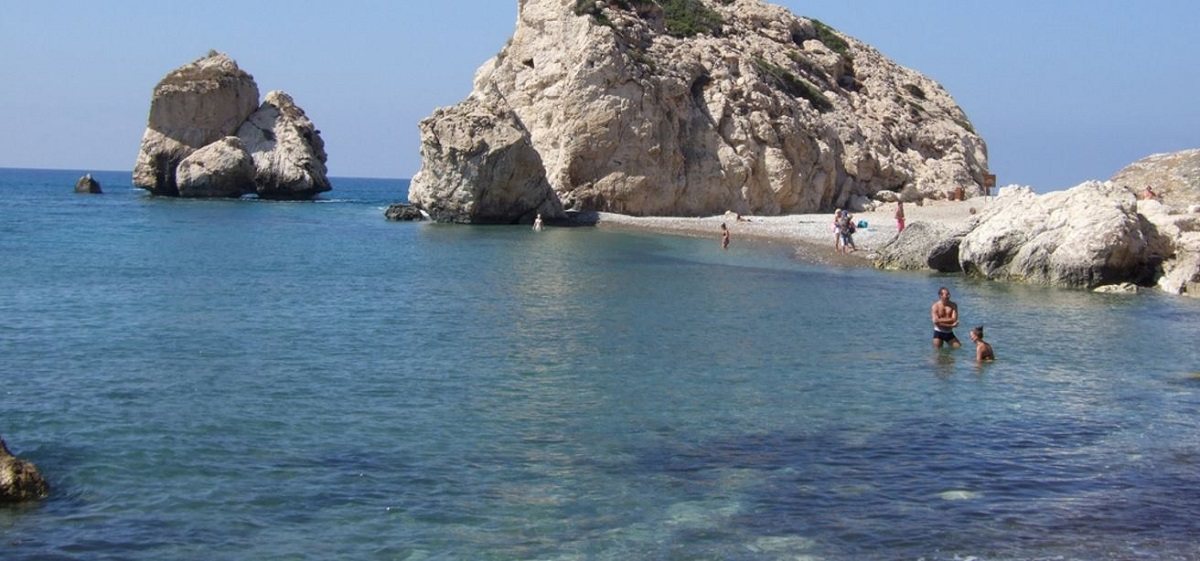 Petra tou Romiou in September, Paphos Cyprus