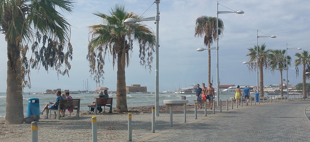 Rainy weather at Paphos in October