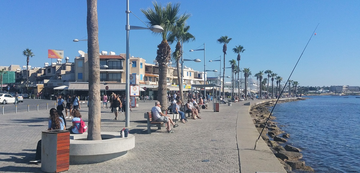 Sunny November weather in Paphos